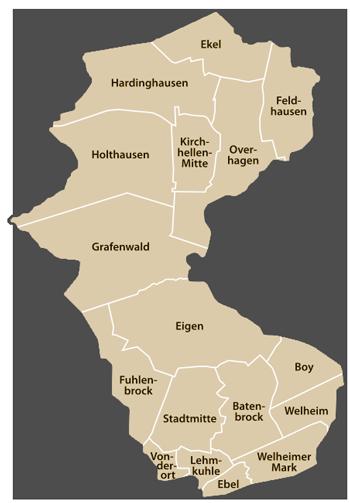 Stadtteile von Bottrop