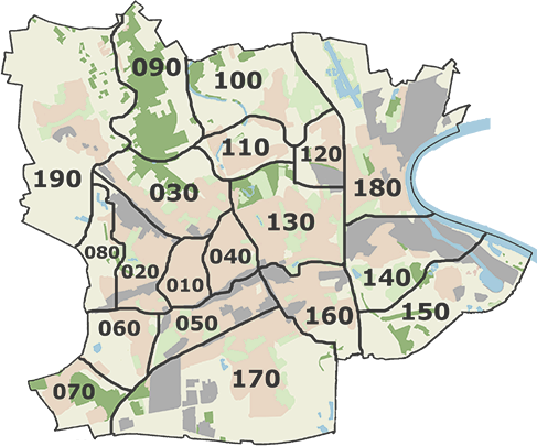 Stadtteile von Krefeld
