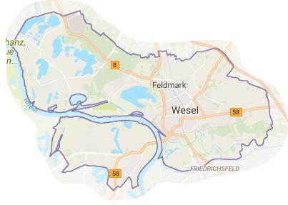 Stadtteile von Wesel