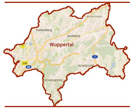 Stadtteile von Wuppertal